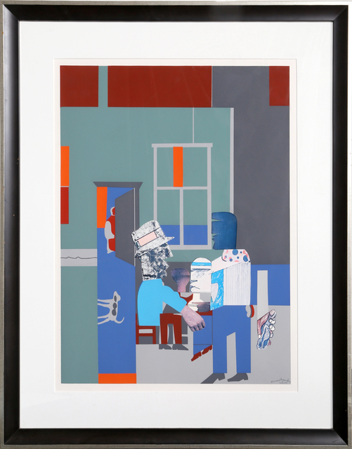 Romare Bearden, 'Carolina Blue (Interior)', 1970, Print, Silkscreen and Collage, RoGallery