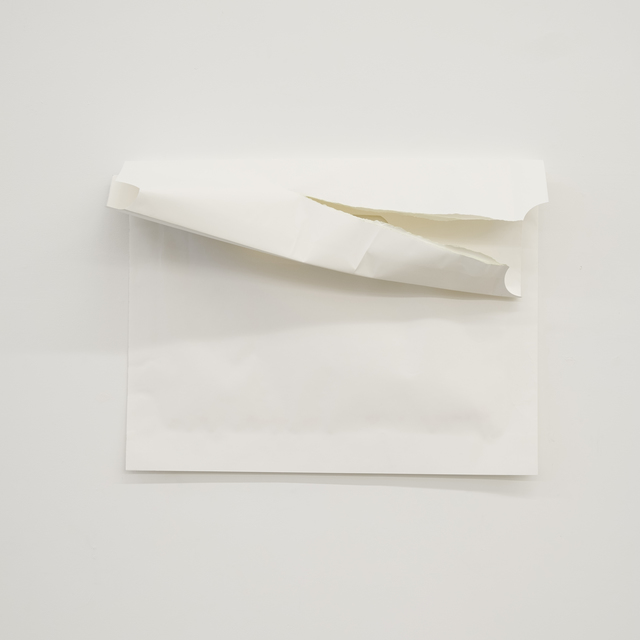 Audrey Cottin, 'From Memory; One Corn Bag Seeds (#0001)', 2019, Drawing, Collage or other Work on Paper, Preserving paper, neutral pH paper, seeds ( corn), glue (solvant free), double sided tape and acrylic glow paint, Tatjana Pieters
