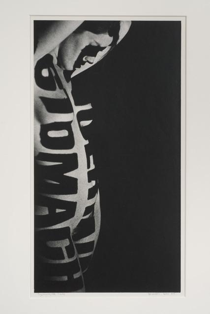 , 'Typographic Nude,' 1965, Hammer Museum
