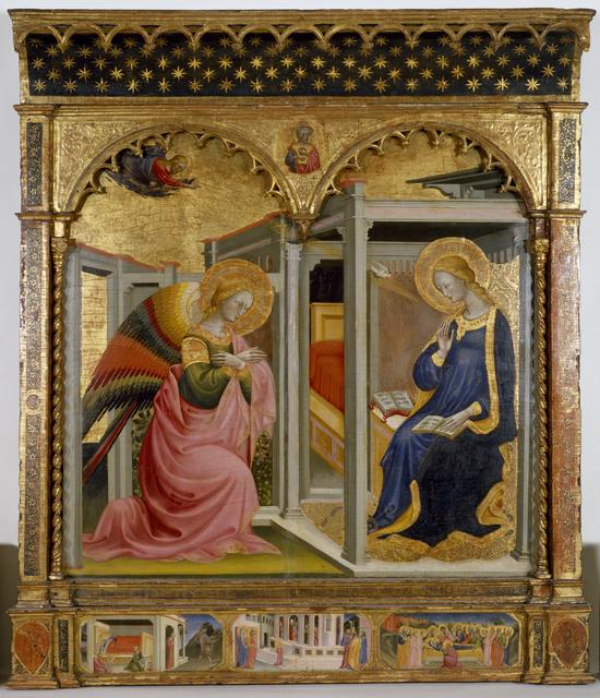 Stefano d'Antonio di Vanni, 'The Annunciation ', ca. 1430, Walters Art Museum