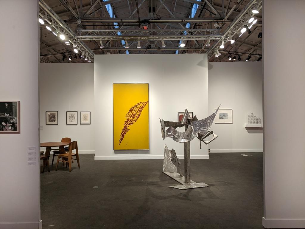 Installation view of Paula Cooper Gallery's Booth (214) at FOG Design+Art 2020 Fair, Festival Pavilion, Fort Mason Center, San Francisco, CA, January 16–19, 2020. Photo: Jake Ewert.