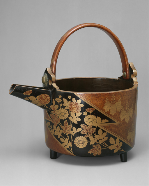 Unknown Japanese, 'Wine Ewer with Design of Chrysanthemums and Paulownia Crests in Alternating Fields', ca. 1596, The Metropolitan Museum of Art
