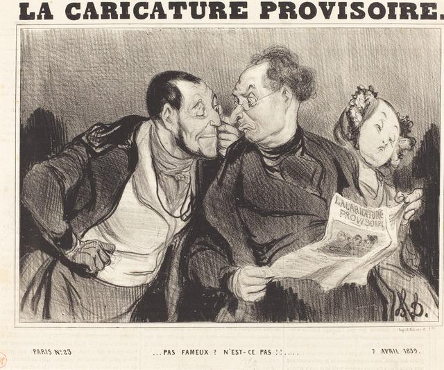 Honoré Daumier, 'Pas fameux? N'est-ce pas!!...', 1839, National Gallery of Art, Washington, D.C.