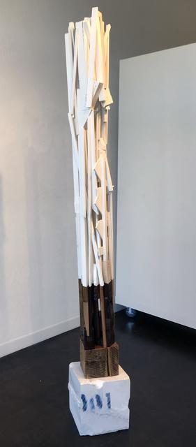 Trent Burkett, '001', 2016, Sculpture, Marble, paint, wood, metal, found object & dammar resin, JAYJAY