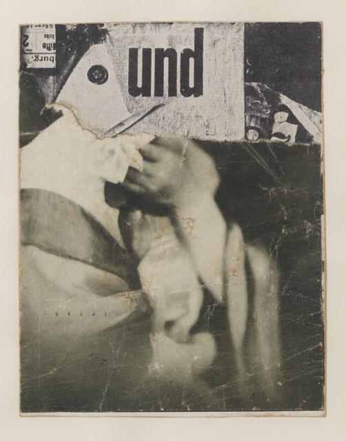 , 'Ohne Titel (Collagierte Bildpostkarte Das Undbild),' circa. 1930, Annely Juda Fine Art