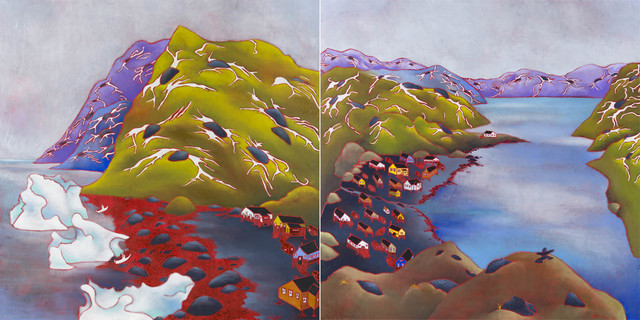 , 'Kangiqsujuaq : Village Montagnes (Diptych),' 2018, Gallery 78