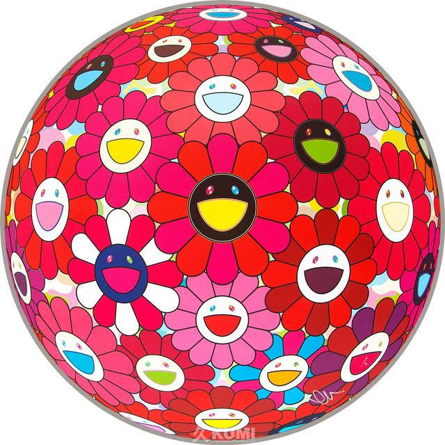 Takashi Murakami, 'Flower Ball Red (Letter to Picasso)', 2013, Kumi Contemporary / Verso Contemporary
