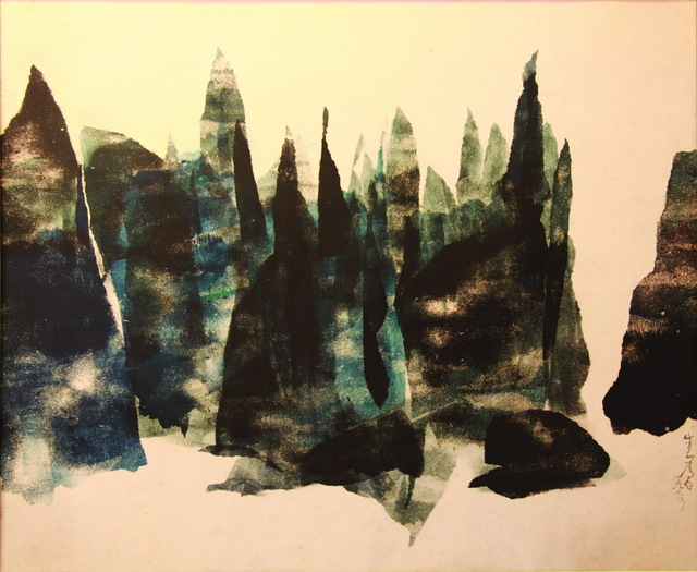 Chu Weibor, 'Moutain Peaks 眾山會', 1971, Painting, Oil, Plastic, Glass plate,, Asia Art Center