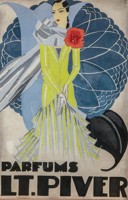 , 'Orignal watercolor for a LT. Piver perfume advertising,' ca. 1925, Avant-Garde Gallery