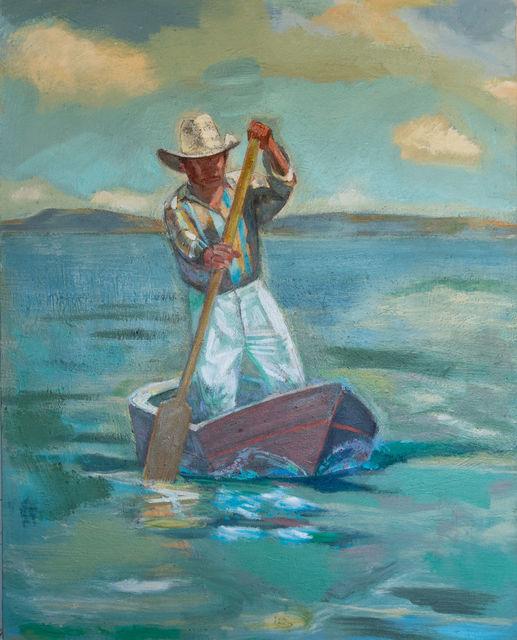 , 'Boatman, Lake Atitlan Guatemala,' 2018, Asher Grey Gallery
