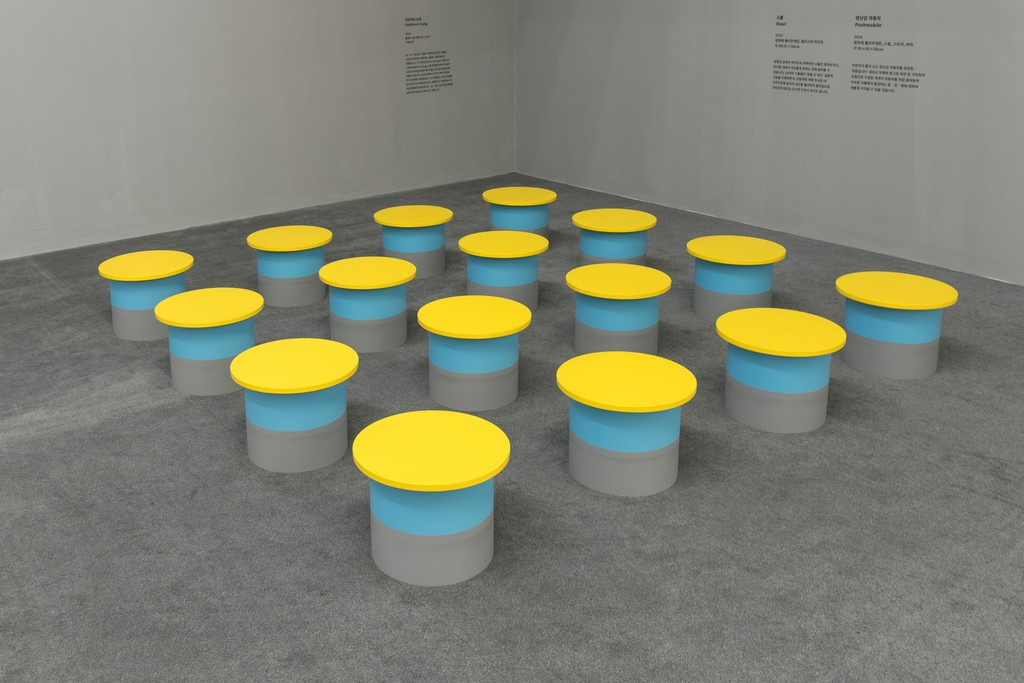 Hong Seung-Hye in Point·Line·Plane at the Buk Seoul Museum of Art installation view. Image provided by Kukje Gallery.