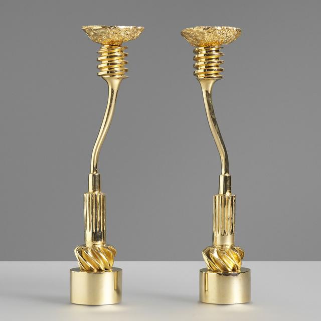 Vassilakis Takis, 'Candlesticks, pair', 1984-85, Wright