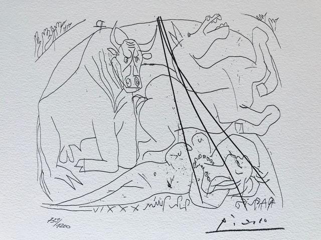 Pablo Picasso, 'Femme torero III (Suite Vollard Planche XXIV)', 1973, ByNewArt