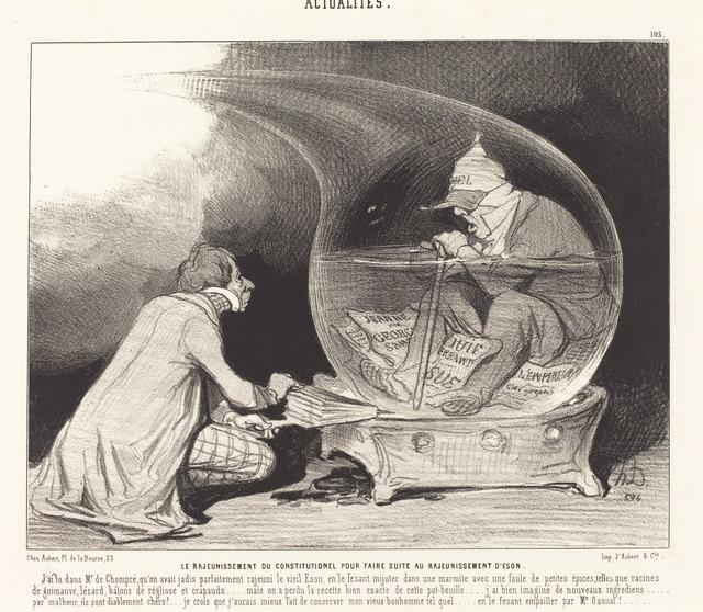 Honoré Daumier, 'Le Rajeunissement du Constitutionnel', 1844, National Gallery of Art, Washington, D.C.