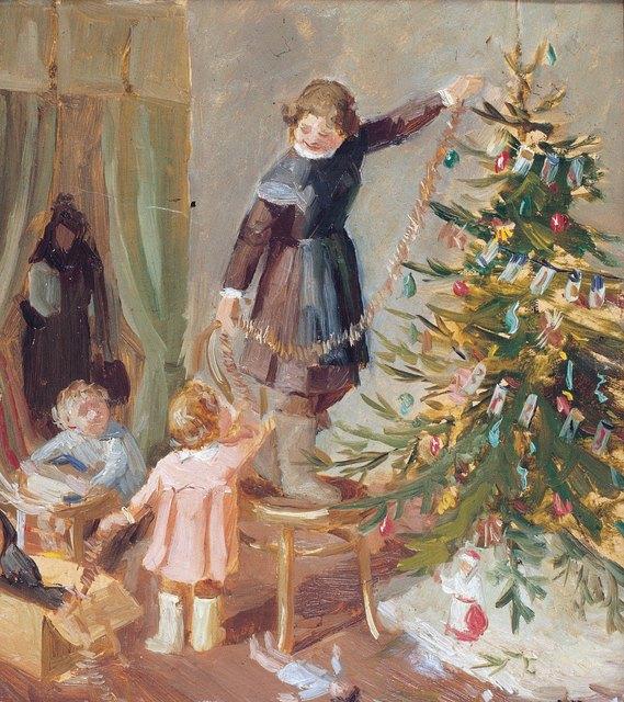 Pavel Fedorovich Shardakov, 'Decorating the Christmas tree', 1948, Surikov Foundation