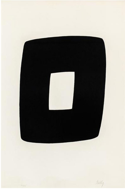 Ellsworth Kelly, 'Black with White', 1964-1965, Robert Fontaine Gallery