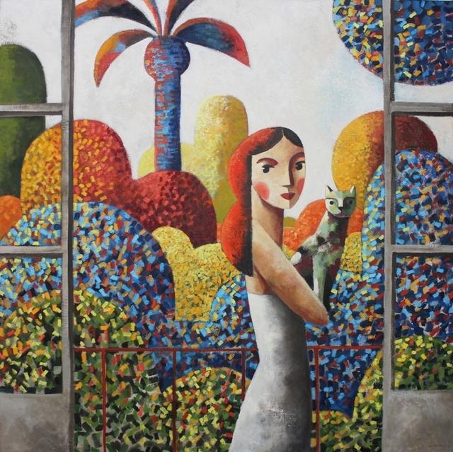 Didier Lourenço, 'My Cat', 2019, Painting, Oil on canvas, Anquins Galeria