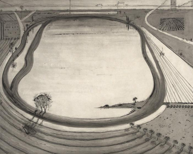 Wayne Thiebaud, 'Dark Reservoir', 2014, Jonathan Novak Contemporary Art