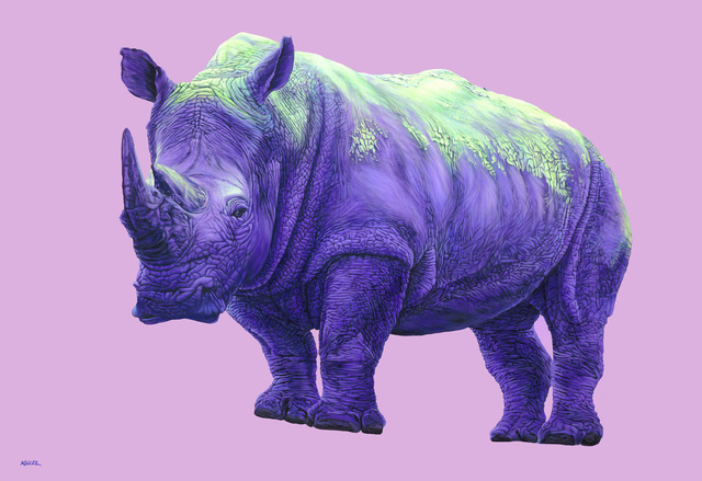, 'Purple Rhinoceros,' 2010, Galerie Dumonteil