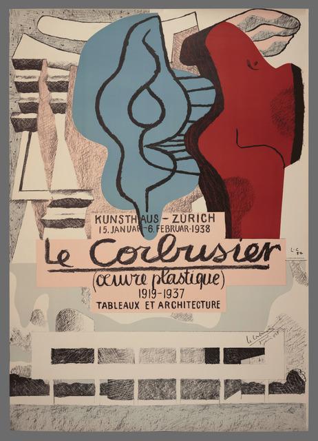 , 'Œuvre Plastique – Kunsthaus Zürich,' 1938, Placart
