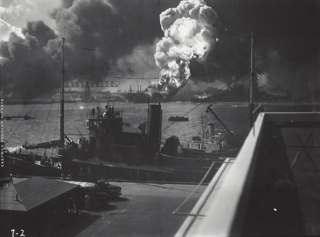 Anonymous, 'U.S. Navy Photograph - Destruction of U.S.S. Shaw, Pearl Harbor', 1941, Elizabeth Houston Gallery