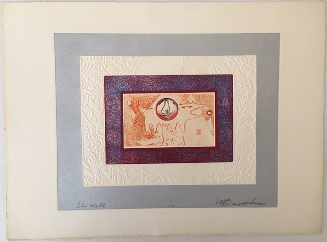 """Martin Barooshian, 'Grouping of 4 Works - """"Barbary Ape"""", """"Flamingos"""", """"Rabbits"""", """"She Wolf""""', Unknown, Print, Etching, Puccio Fine Art"""