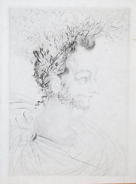 Salvador Dalí, 'Les Amours de Cassandre. Portrait de Ronsard', 1968, Print, Drypoint on Japon paper, Samhart Gallery