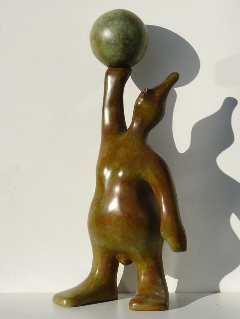 Le maghien, 'World in his hands', 2016, Sculpture, Bronze, Art Center Horus