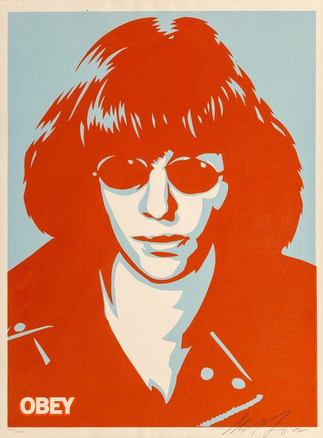 Shepard Fairey, 'Ramone Poster', 2002, Print, Screenprint in colors on speckled cream paper, Heritage Auctions