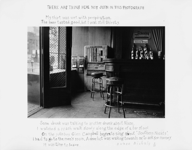, 'There Are Things Here Not Seen in This Photograph,' 1977, DC Moore Gallery