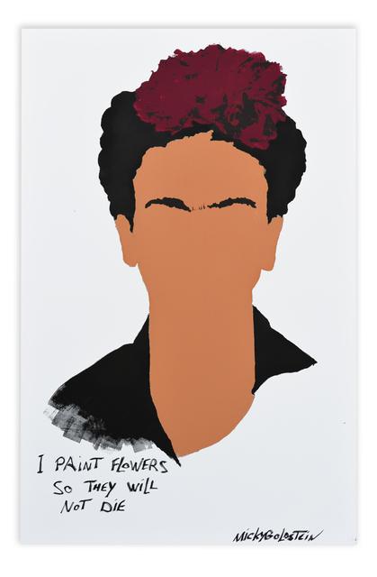 , 'I paint flowers,' 2018, Lemon Frame gallery