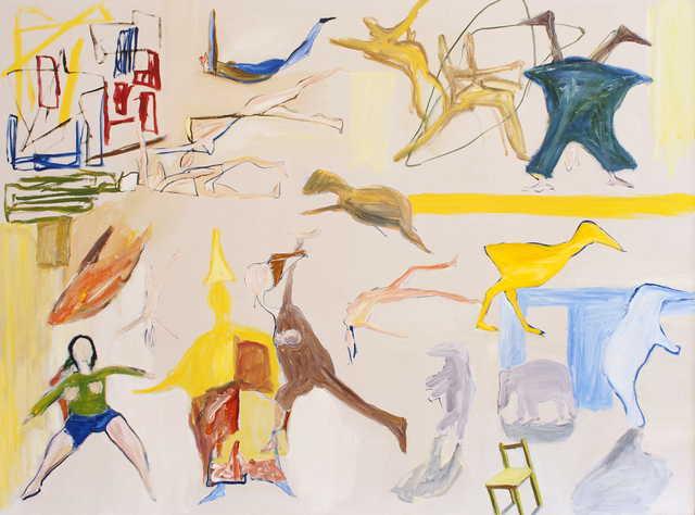 , 'Circus with Oriental Magician and Yellow Duck,' 16/4/1988 & 17/10/1988, Niagara Galleries