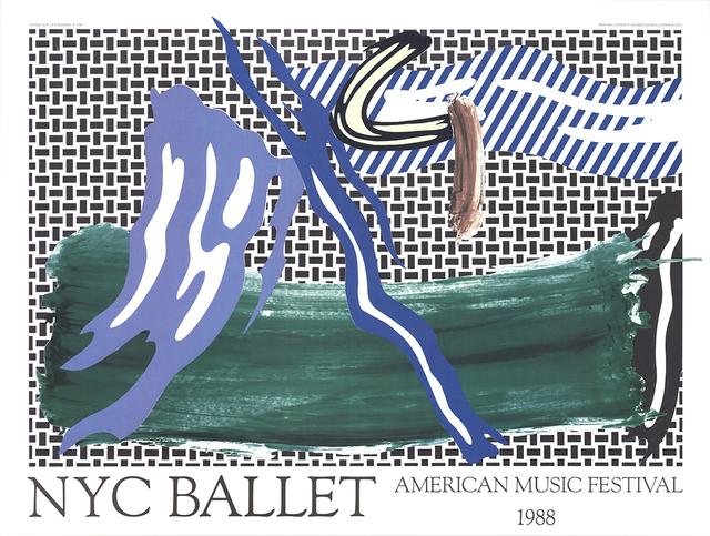 Roy Lichtenstein, 'NYC Ballet American Music Festival', 1988, ArtWise