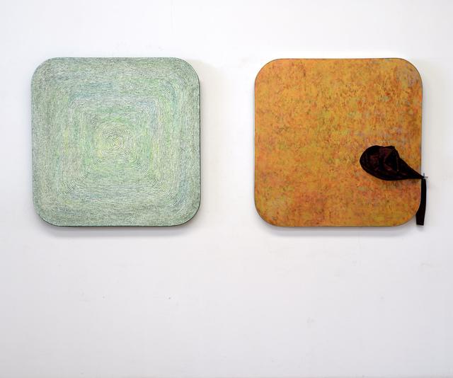 ", 'Chopsticks: Incision of Time ""Tree Ring"" and ""Black Hole"" Square  筷道:时间的切片""年轮""""黑洞""方切片,' , Chambers Fine Art"