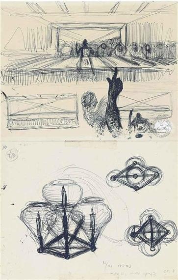 """Salvador Dalí, 'Étude pour """"La Cène""""', 1955, Gallery Sofie Van de Velde"""