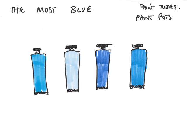 , 'THE MOST BLUE - Erdkunde Working drawing,' 2015, Carroll / Fletcher