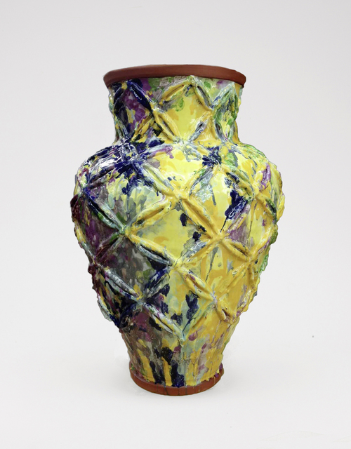 , 'Large Vase with Watercolor Glaze and Raised Motif ,' 2017, Häusler Contemporary