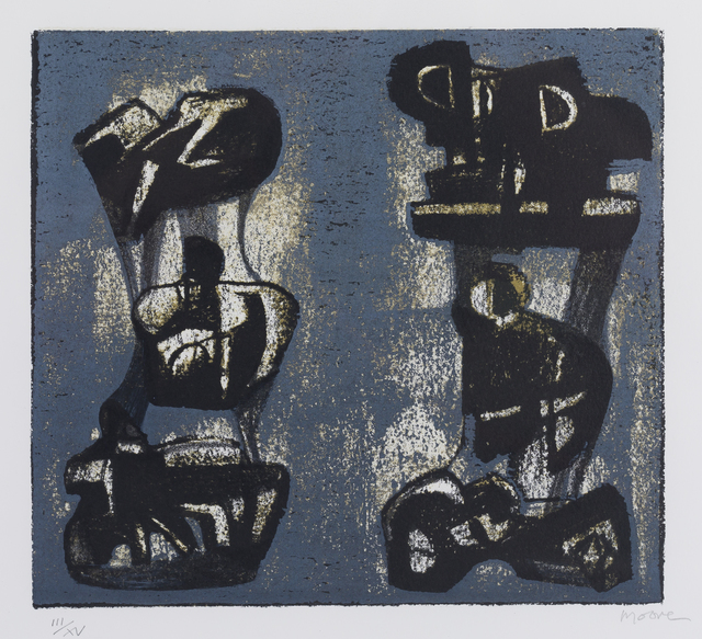 Henry Moore, 'Ideas for Metal Sculpture II', 1981, Print, Lithograph, Childs Gallery