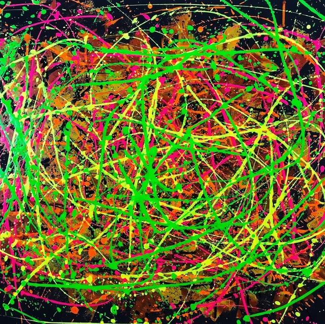 Vikash Jha, 'Cosmic Energy #1', 2018, Painting, Acrylic and mixed media on canvas board, MvVO ART
