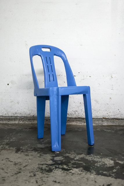 , 'Blue chair I,' 2017, Ever Gold [Projects]