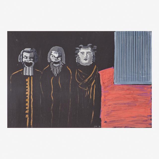 David Hockney, 'Three Singers on Stage', 1981, Rago