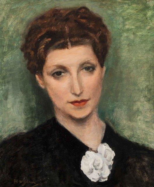 Henri Hayden, 'Portrait de femme', Painting, Oil on panel, Leclere