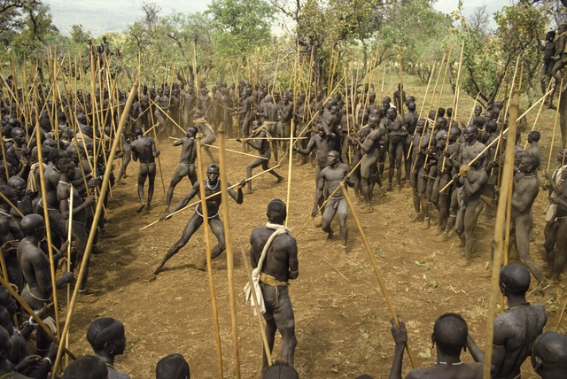 , 'Suma Stick Fighters, Ethiopia,' 1987, Brooklyn Museum