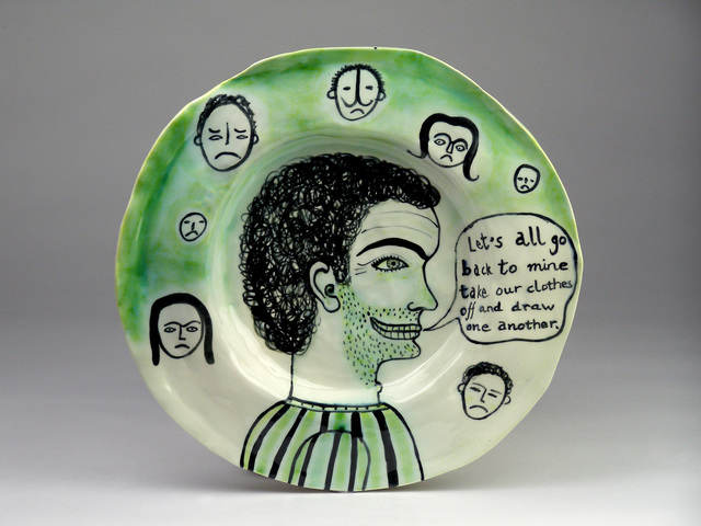 , '(Round Plate) All Back to Mine,' 2012, Garis & Hahn
