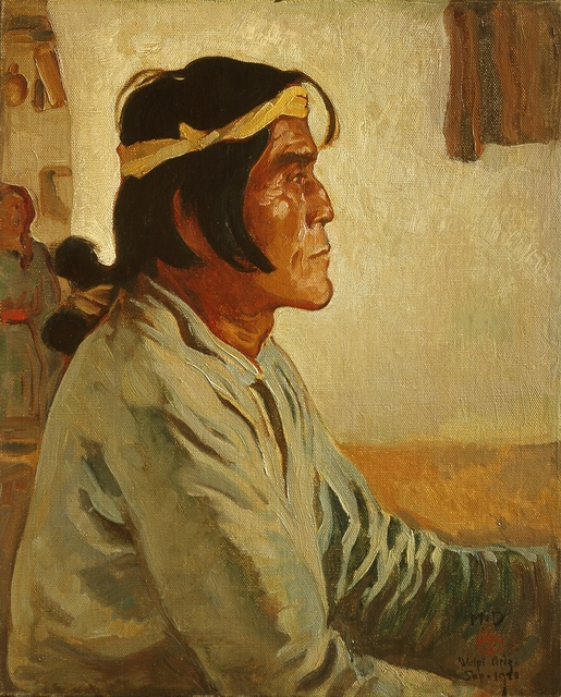 , 'Namoki, Hopi Snake Priest,' 1923, Blanton Museum of Art