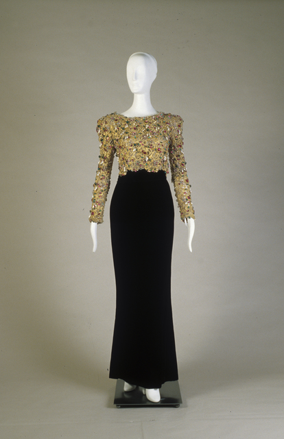 , 'Evening ensemble; dress and overbodice,' 1984, de Young Museum
