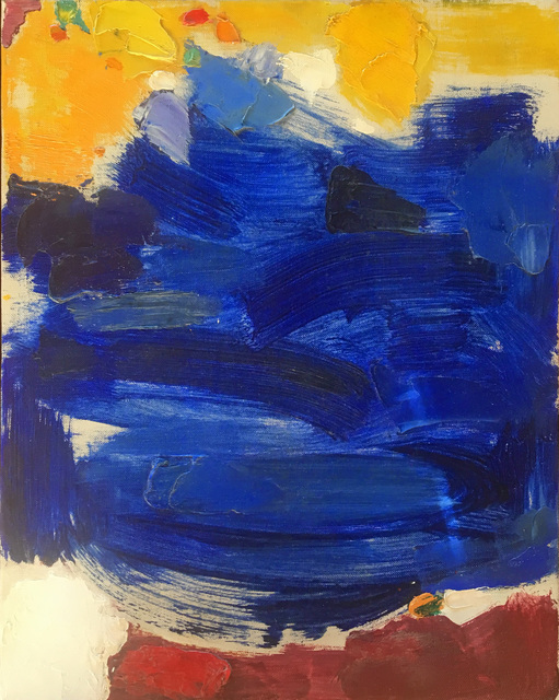 , 'Untitled Abstract Yellow & Blue,' ca. 1960s, 203 Fine Art