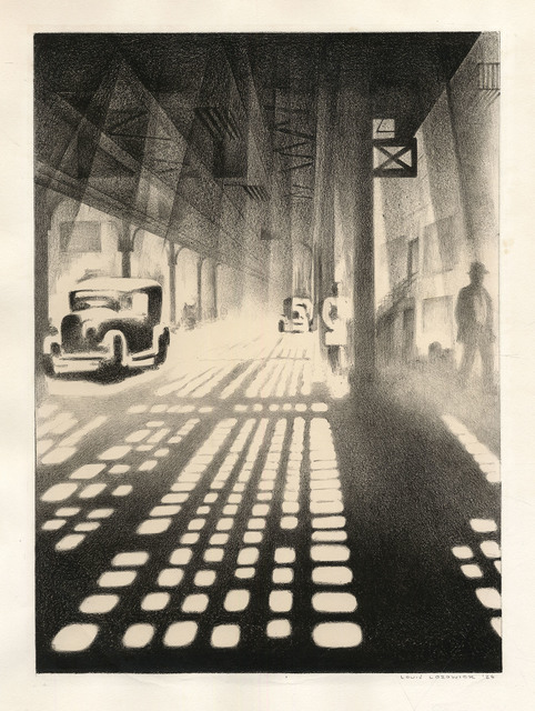 , 'Checkerboard. (Under the Elevated.),' 1927, The Old Print Shop, Inc.