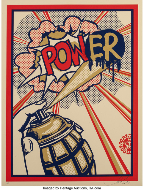 Shepard Fairey (OBEY), 'Pow(er) Print', 2010, Heritage Auctions