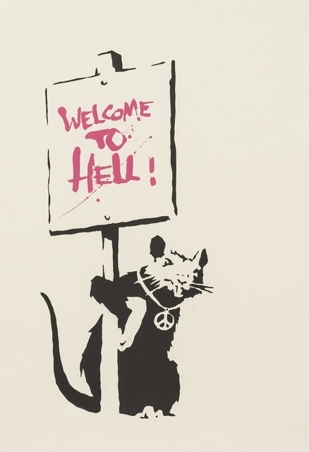 Banksy, 'Welcome to Hell (Pink)', 2004, Forum Auctions